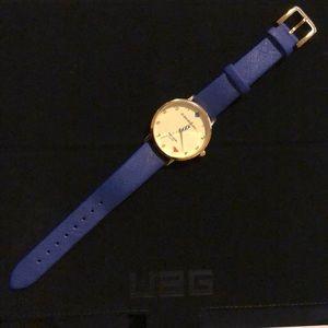 Kate spade metro 5'o clock somewhere leather watch